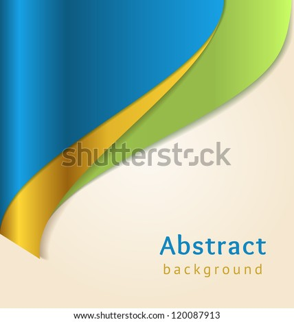 Blue and gold business background, vector - stock vector