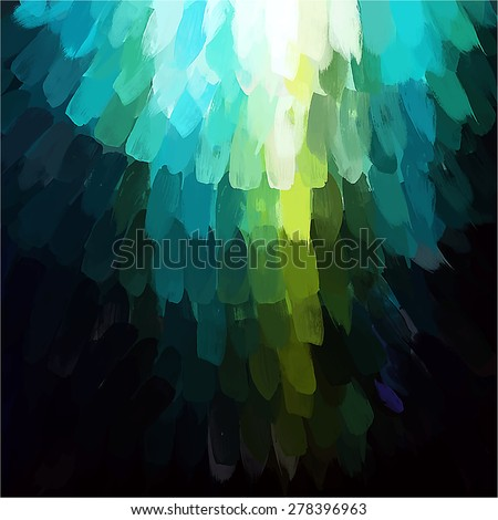 Blue and green vertical brush strokes background. Vector version - stock vector