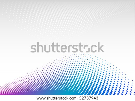 Blue and magenta halftone background - stock vector