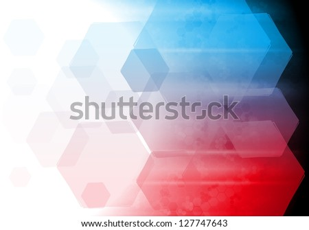 Blue and red technology design. Vector background eps 10 - stock vector