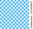 Blue and white gingham cloth background with fabric texture, plus seamless pattern included in swatch palette ( for high res JPEG or TIFF see image 101404864 )  - stock vector