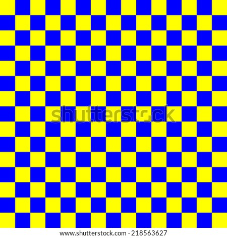 blue and yellow squares, repeating in a uniform square - vector - stock vector