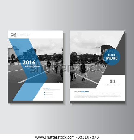 Blue annual report Leaflet Brochure Flyer template A4 size design, book cover layout design, Abstract blue presentation templates - stock vector
