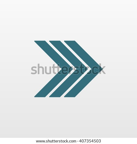 Blue Arrow icon isolated on background. Modern simple flat next sign. Business, internet concept. Trendy vector forward symbol for website design, web button, mobile app. Logo illustration  - stock vector