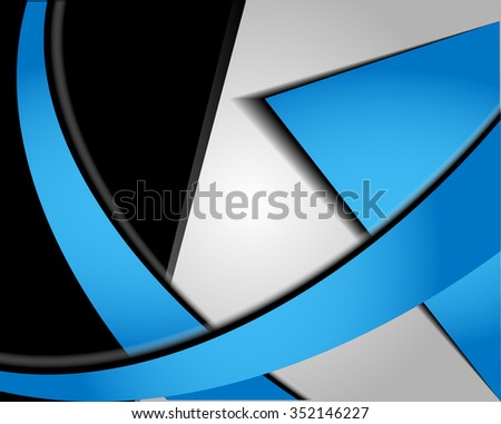 Blue background design with space for message  - stock vector