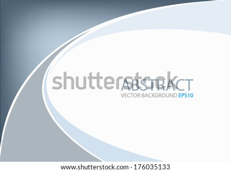 Blue background earth tone graphic curve line for text and message modern web design - stock vector