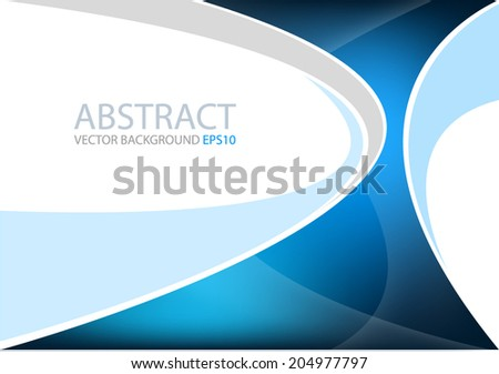Blue background on white curve background with blue line vector abstract for text and message modern header website design - stock vector