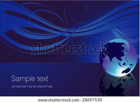 Blue background. Vector. - stock vector
