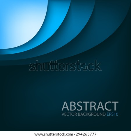 Blue background vector overlap paper layer curve line gradient color tone with space for text design - stock vector
