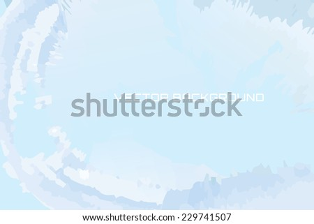 Blue background with an icy look - stock vector