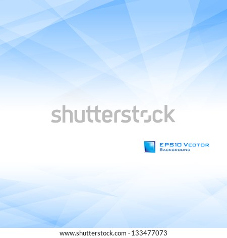 Blue background with copy-space. Lowpoly vector illustration. Used opacity mask of background - stock vector