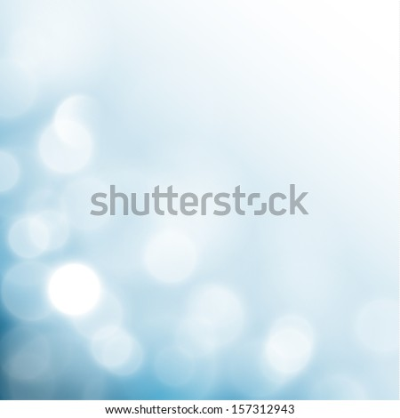 Blue background with defocused lights - eps10 - stock vector