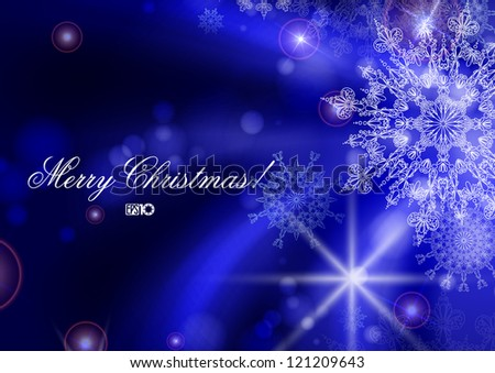 Blue background with snowflakes. Vector illustration. Eps 10. - stock vector
