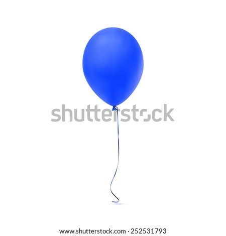Blue balloon icon isolated on white background. Vector illustration - stock vector