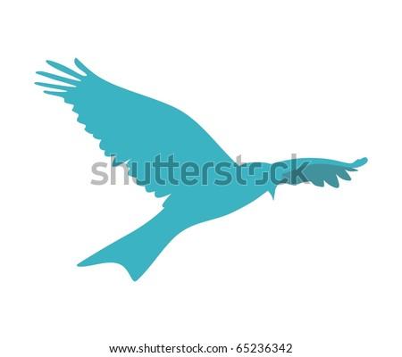 blue bird vector - stock vector