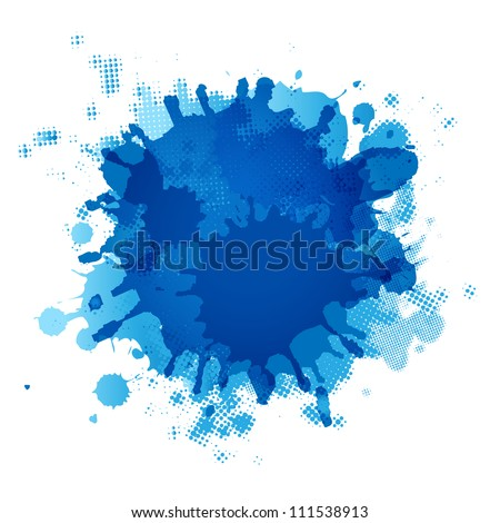 Blue Blob, Isolated On White Background, Vector Illustration - stock vector