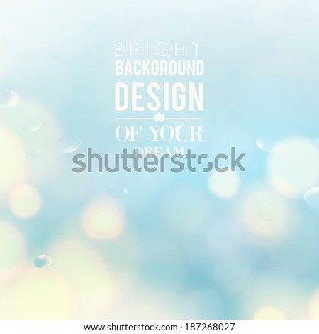 Blue bokeh abstract light background. Vector illustartion. - stock vector
