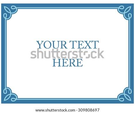 Borderframe Stock Vectors Vector Clip Art Shutterstock