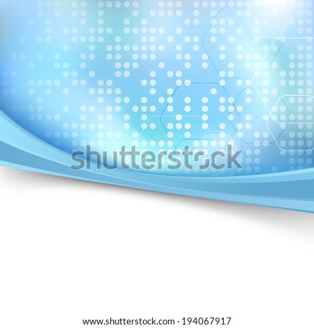 Blue bright dotted folder background. Vector illustration - stock vector