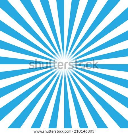 Blue burst background. Vector illustration - stock vector