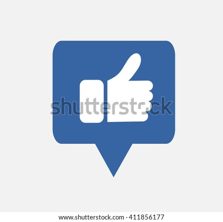 Blue Button Hand Like Icon  Vector Background, JPG facebook JPEG,EPS Logo design yes Download Face book Social media  - stock vector