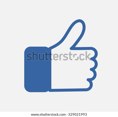 Blue Button Hand Like Icon Vector Background, JPG, JPEG,EPS Logo design  Download Thumb facebook up symbol faceboo Ssocial network post - stock vector
