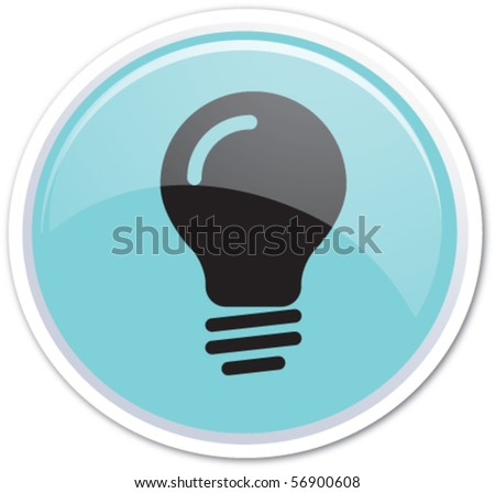 Blue button vector bubble - stock vector