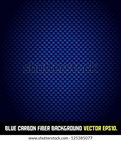 BLUE carbon fiber background VECTOR EPS10. - stock vector