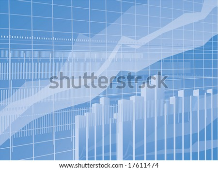 Blue chart vector background. - stock vector