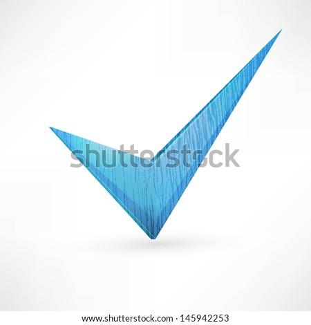 blue checkmark. - stock vector