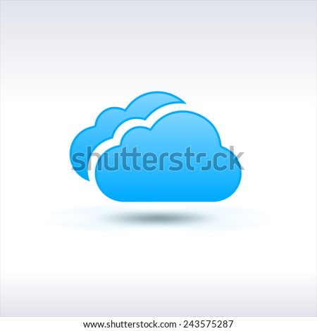 Blue Clouds Icon - stock vector