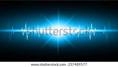 Blue color pulse Light Abstract Technology pixels background for computer graphic website and internet,  - stock vector