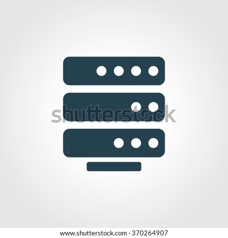 Blue Colored Icon of data storage On Gray Color Background. Eps-10. - stock vector
