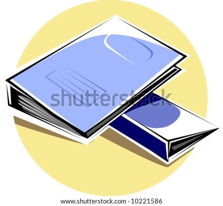 blue colour folders - stock vector