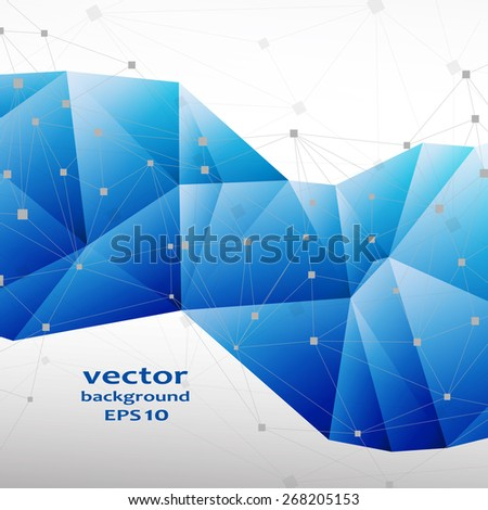 Blue crystal abstract pattern. Business Design Templates - stock vector