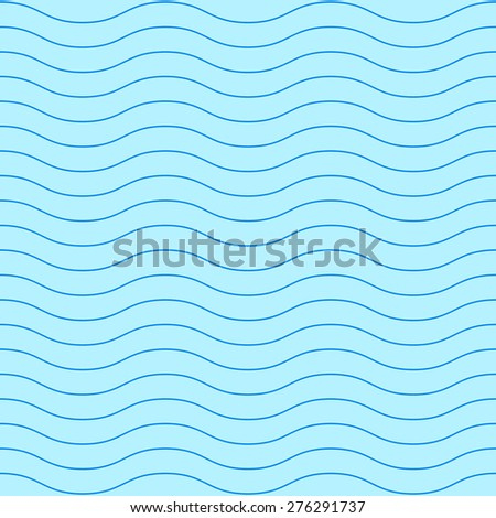 Blue curve wave pattern vector. Curve wave background. Blue water wave vector. Sea wave pattern. Seamless pattern vector. River Background vector. Water element background. - stock vector