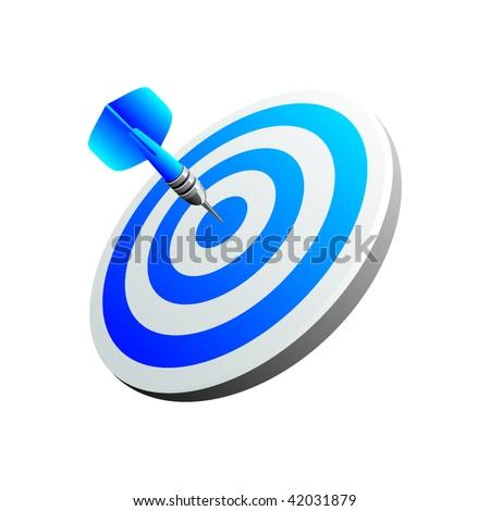 Blue darts - stock vector