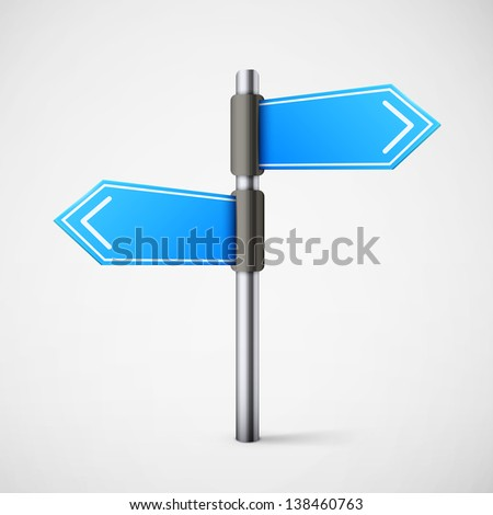 blue direction road sign eps10 vector illustration - stock vector