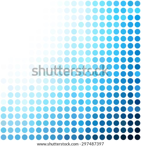 Blue Dots Background, Creative Design Templates - stock vector