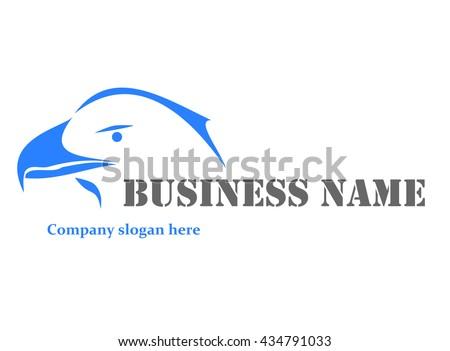 Blue eagle logo - vector illustration. - stock vector