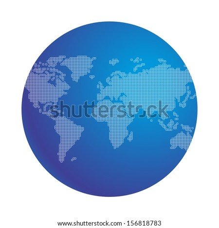 blue earth - stock vector