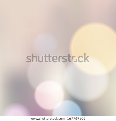 Blue elegant abstract background with bokeh lights. - stock vector