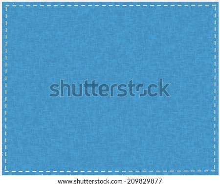 Blue fabric texture for background - stock vector