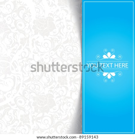 Blue floral abstract background - stock vector