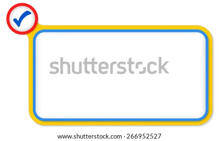 Blue frame for your text and check box - stock vector