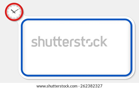 Blue frame for your text and watches - stock vector