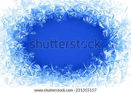 Blue frosted window. Eps8. RGB. Global colors. Gradients used. - stock vector