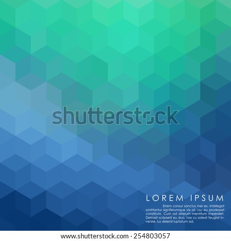 blue geometry abstract background vector - stock vector
