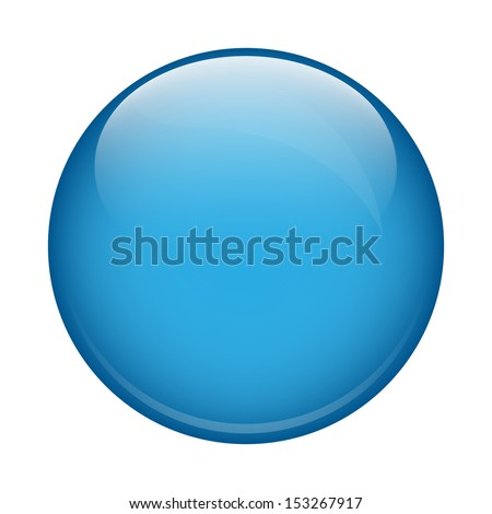 Blue glass sphere - stock vector