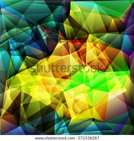 Blue,green yellow geometric pattern, triangles background, polygonal design. Vector EPS 10 illustration. - stock vector
